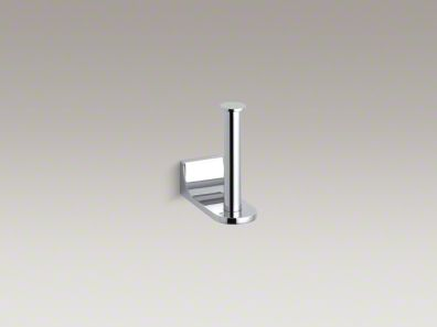Kohler 11583-CP Loure Vertical Toilet Tissue Holder - Polished Chrome